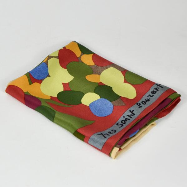 Yves Saint-Laurent silk scarf 'Automne' french designer scarf Paris couture 1