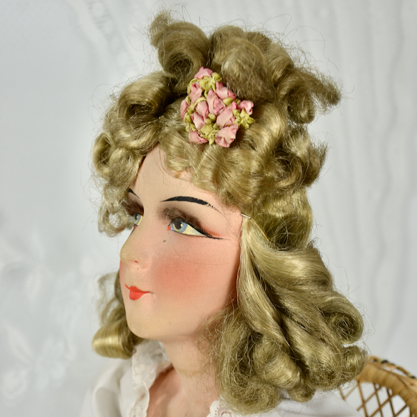 antique french boudoir doll art deco fashion doll 1930 3
