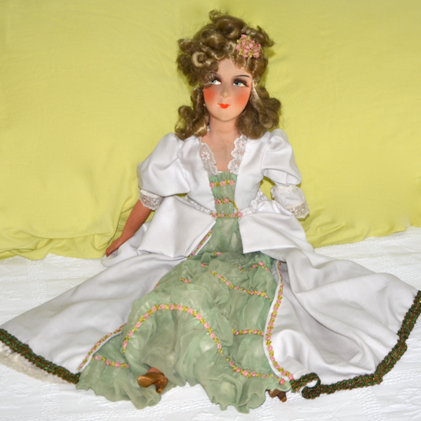 antique french boudoir doll art deco fashion doll 1930 6 (1)