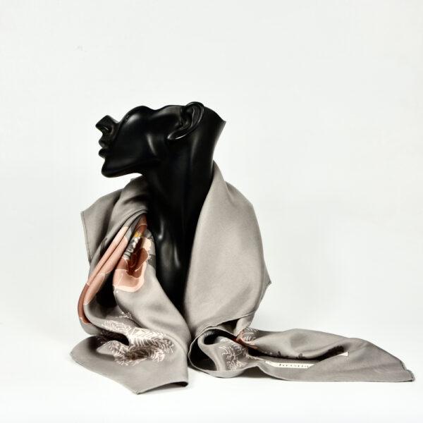 christian dior vintage silk scarf 1970s beige floral french designer silk scarf beige pink floral