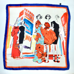 vintage 1980s fashion paris silk scarf picture scarf models