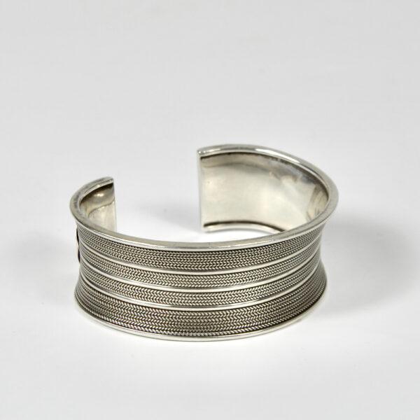 vintage silver cuff bracelet mid century jewellery 1