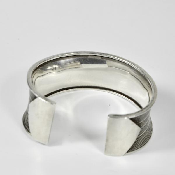 vintage silver cuff bracelet mid century jewellery 2