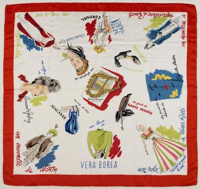 French vintage silk scarves hermes ysl balmain lanvin dior ruff 1950s 1960s 1970s
