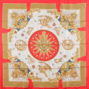 Jean Desses silk scarf vintage designer