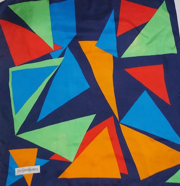 Yves Saint Laurent silk scarf vintage french silk scarf fragments
