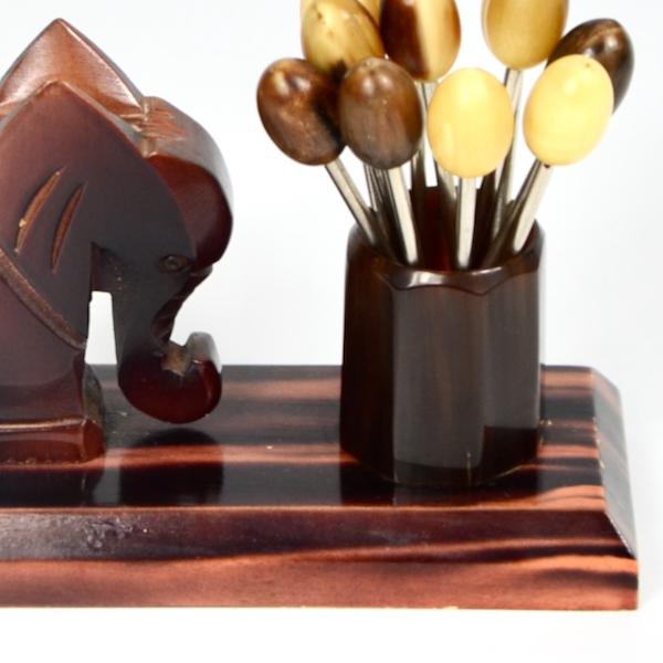 art deco cocktail stick set elephant (1)