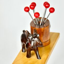 scottie art deco ric et rac dog cocktail stick set bakelite barware 1930s 1 (1)