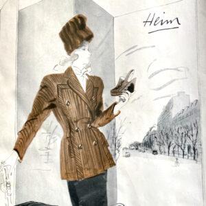 jacques heim rene gruau advertisement 1950s