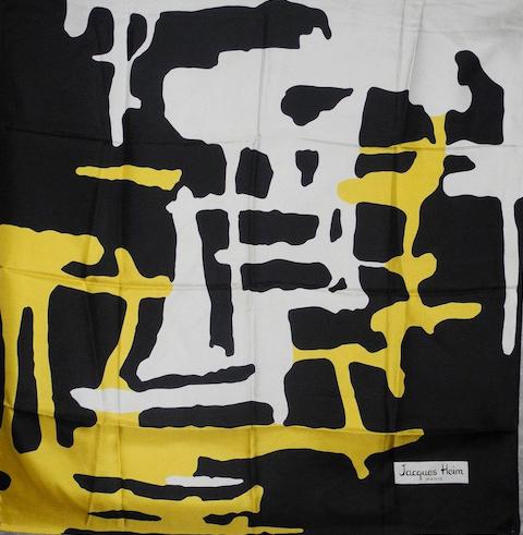 jacques heim vintage silk scarf paris designer scarf 1960s (1)