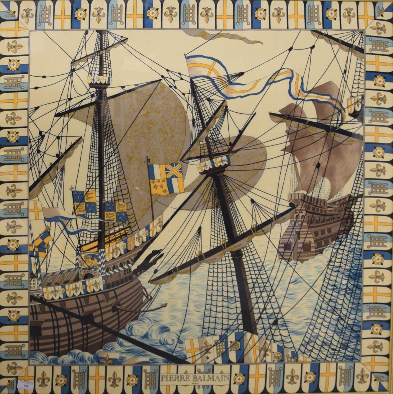 pierre balmain vintage silk scarf french designer ship