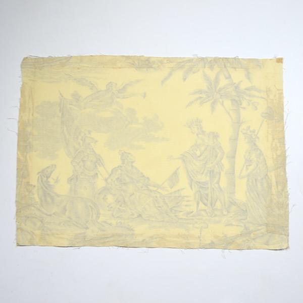 18th century Toile de Jouy Homage de l'Amérique à la France antique French textile panel 1783 3