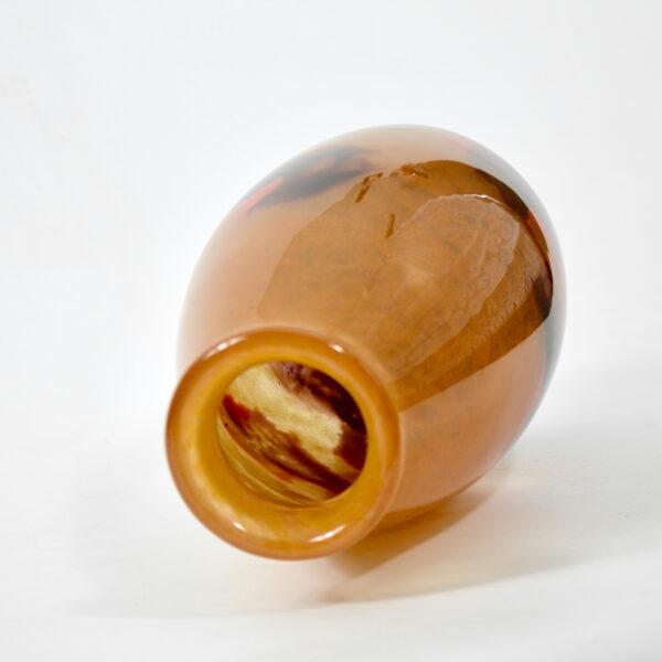 Degué glass art deco vase signed 1930 french antique vase powdered glass 4