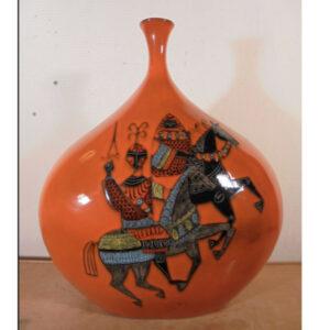 jean de lespinasse vase french mid century pottery ceramic horseman 1