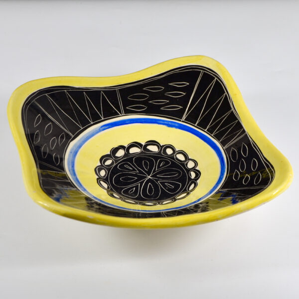 early jacques pouchain poet laval french ceramist mid century freeform bowl 1950s