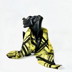 Nina Ricci silk scarf vintage French designer scarf yellow 1960s 2